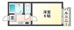 滋賀県東近江市八日市金屋3丁目の賃貸アパートの間取り