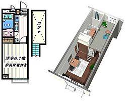 東京都葛飾区奥戸4丁目の賃貸アパートの間取り