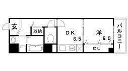 西鈴蘭台シティコート[2階]の間取り