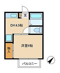 プランドール 松戸[2階]の間取り