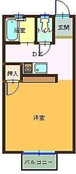 ピュアハウス[205号室]の間取り