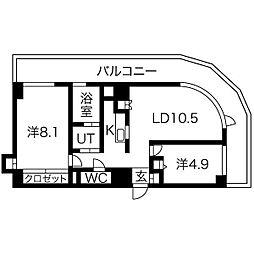 AMS TOWER[701号室]の間取り