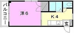 愛媛県松山市木屋町1丁目の賃貸マンションの間取り