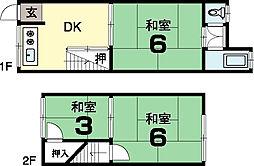 上田住宅 2階建[1階]の間取り