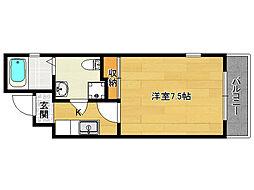 サイトKYOTO西院[4−C号室]の間取り