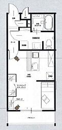 JR山陽本線 西川原駅 徒歩19分の賃貸アパート 1階ワンルームの間取り