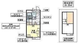 レオパレスHAYASHI[1階]の間取り