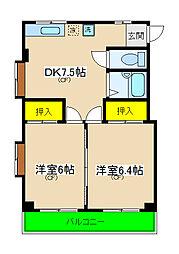 北軽井沢ハイツ[2階]の間取り