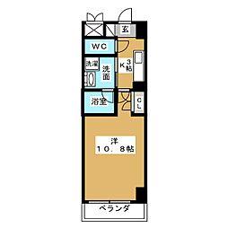 グランルージュ栄[5階]の間取り