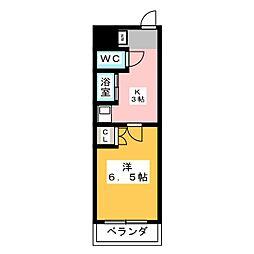 T-ROOM栄[1階]の間取り