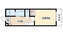 愛知県名古屋市南区加福本通2丁目の賃貸アパートの間取り