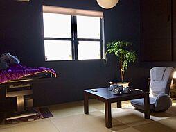 モダンなデザインの和室が個性的
