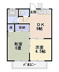 メゾン恵[2階]の間取り