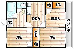 旭町コーポ[2階]の間取り