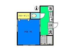 桜山ハウス[101号室]の間取り