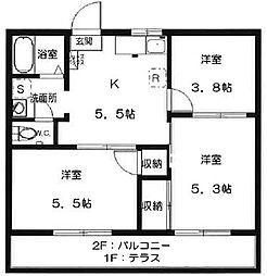 MINT HOUSE B[1階]の間取り