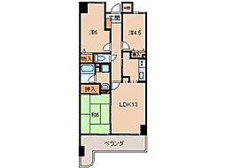 クローバーメゾン狐島313号[3階]の間取り