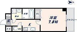 Osaka Metro千日前線 南巽駅 徒歩4分の賃貸マンション 6階1Kの間取り