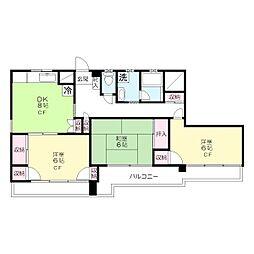 レオドールマンション[4階]の間取り
