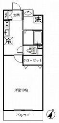 アビタシオン・シャーム[107号室号室]の間取り