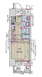 Osaka Metro堺筋線 天神橋筋六丁目駅 徒歩7分の賃貸マンション 6階1Kの間取り