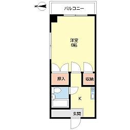 東京都大田区大森西4丁目の賃貸マンションの間取り