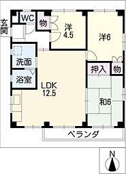 トリニティ高田寺[2階]の間取り
