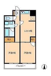 アローマ350[1階]の間取り