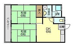 福岡県糟屋郡志免町別府3丁目の賃貸アパートの間取り