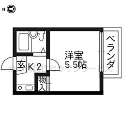 モナ十条[1階]の間取り