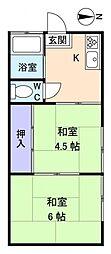 鈴木荘[1階]の間取り