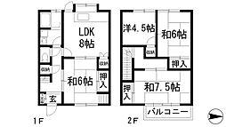 [一戸建] 兵庫県西宮市下大市東町 の賃貸【/】の間取り