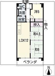 ブランメゾン赤坂[3階]の間取り