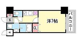 スワンズ新神戸ウィータ[5階]の間取り