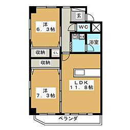 大枝ビル[4階]の間取り