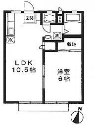 東京都江戸川区春江町5丁目の賃貸アパートの間取り