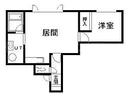 北海道札幌市中央区北十三条西16丁目の賃貸アパートの間取り