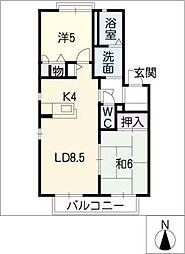 CourtAzeliaF棟[1階]の間取り