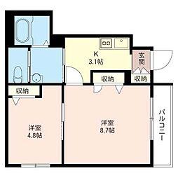 港北区日吉本町5丁目シャーメゾン (仮)[1階]の間取り