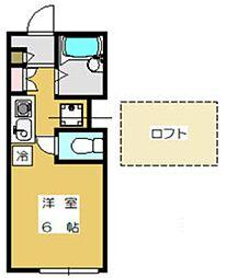 EXZA(エグザ)[1階]の間取り