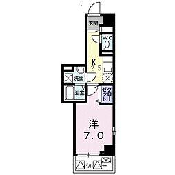 JR京浜東北・根岸線 山手駅 徒歩13分の賃貸マンション 3階1Kの間取り