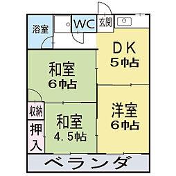 ファミールミヤコ 2階[2階]の間取り