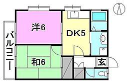 仙波ハウス[A102 号室号室]の間取り