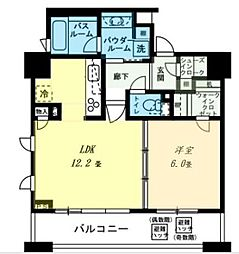 シティタワー横濱[614号室]の間取り