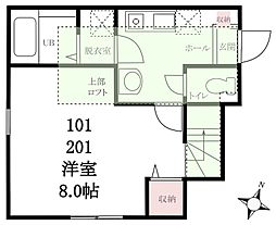 ハーミットクラブハウス鎌倉[1階]の間取り