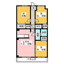 コート・ソレイユ[4階]の間取り