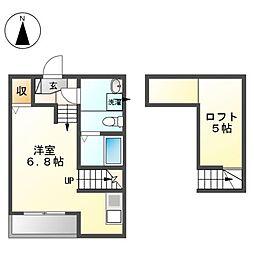 N'sタウン[2階]の間取り