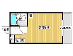 ハイツ加賀[3階]の間取り