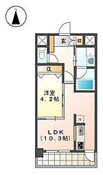 GKfanレジデンス[4階]の間取り