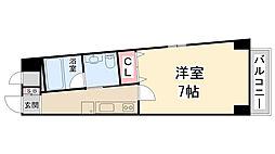 ハッピーハウス川西[5階]の間取り